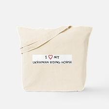 I Love Ukrainian Riding Horse Tote Bag