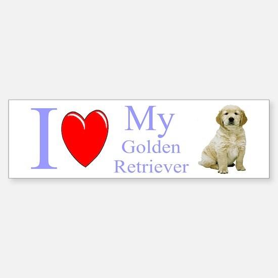 Cute Golden puppy Sticker (Bumper)