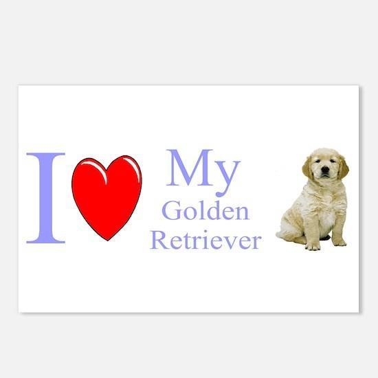 Cute I heart my karelian bear dog Postcards (Package of 8)