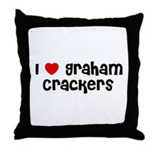I * Graham Crackers Throw Pillow