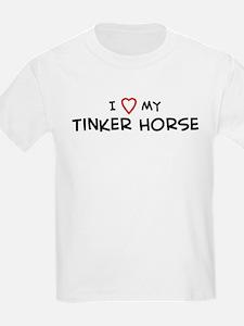 I Love Tinker Horse Kids T-Shirt