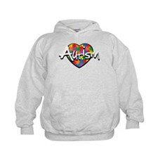Autism Puzzle Heart Hoodie