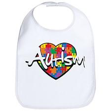 Autism Puzzle Heart Bib