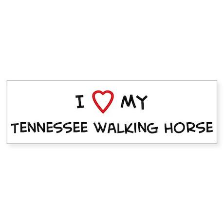 I Love Tennessee walking Hors Bumper Sticker