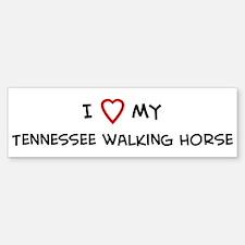 I Love Tennessee walking Hors Bumper Bumper Bumper Sticker