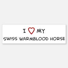 I Love Swiss Warmblood Horse Bumper Bumper Bumper Sticker