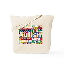 Autism Puzzle Block Tote Bag