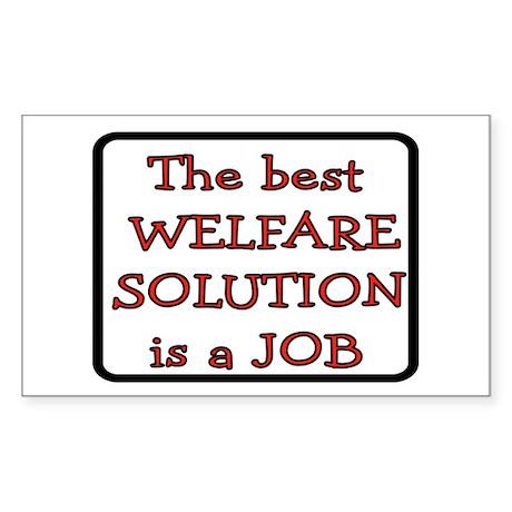 GET A JOB Sticker (Rectangle 10 pk)