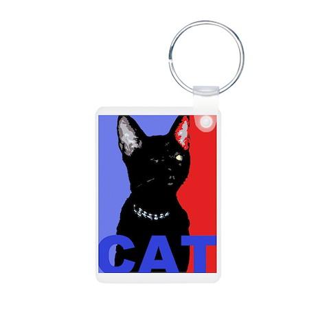 CAT FOR PRESIDENT Aluminum Photo Keychain