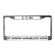 I Love Swedish Warmblood Hors License Plate Frame