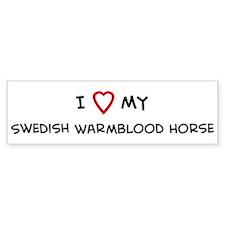 I Love Swedish Warmblood Hors Bumper Bumper Sticker
