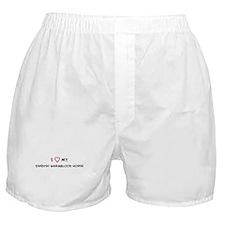 I Love Swedish Warmblood Hors Boxer Shorts