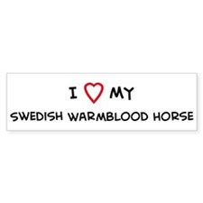 I Love Swedish Warmblood Hors Bumper Stickers