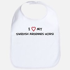 I Love Swedish Ardennes Horse Bib