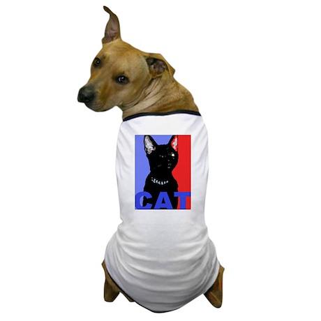 CAT FOR PRESIDENT Dog T-Shirt