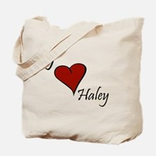 I love Haley Tote Bag