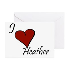 I love Heather Greeting Cards (Pk of 20)