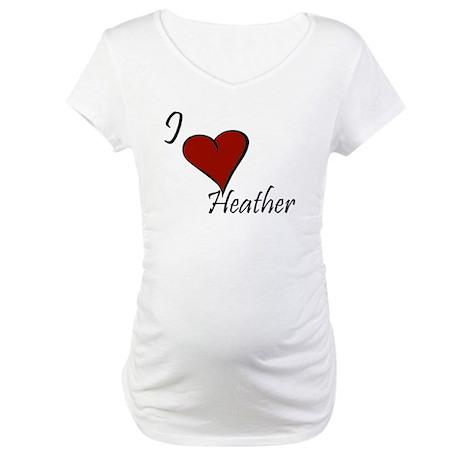 I love Heather Maternity T-Shirt