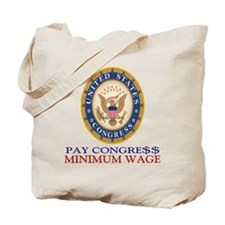 Congress Minimum Wage Shop Beach Tote