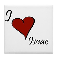 I love Isaac Tile Coaster