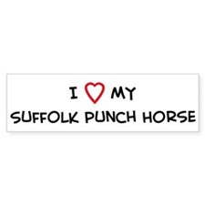 I Love Suffolk Punch Horse Bumper Stickers