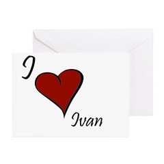I love Ivan Greeting Cards (Pk of 20)