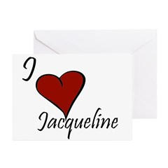 I love Jacqueline Greeting Cards (Pk of 20)