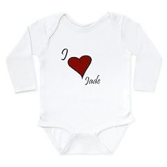 I love Jade Long Sleeve Infant Bodysuit
