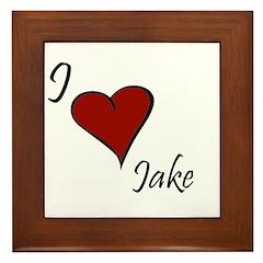I love Jake Framed Tile