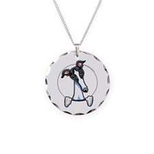 White Black Greyhound Necklace Circle Charm