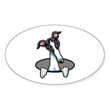 White Black Greyhound Decal