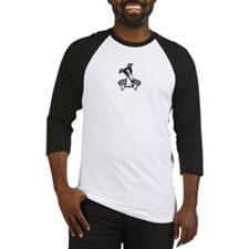 White Black Greyhound Baseball Jersey