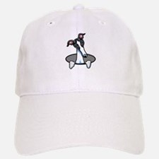 White Black Greyhound Baseball Baseball Cap