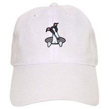 White Black Greyhound Baseball Cap
