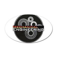 Mechanical Engineering 22x14 Oval Wall Peel