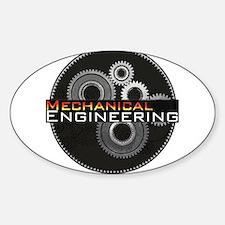 Mechanical Engineering Sticker (Oval)