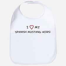 I Love Spanish Mustang Horse Bib