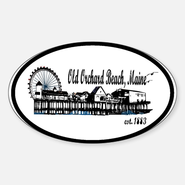 Old Orchard Beach Maine Oval Decal