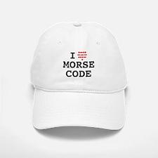 I Love Morse Code Baseball Baseball Baseball Cap