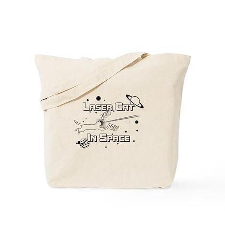 Laser Cat In Space Tote Bag