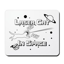 Laser Cat In Space Mousepad