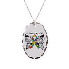 Awareness Butterfly Autism Necklace