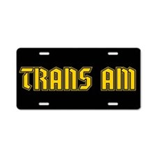 Trans Am! Aluminum License Plate