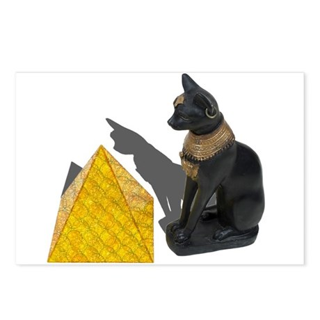Egyptian Cat Sun Pyramid Postcards (Package of 8)