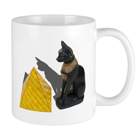 Egyptian Cat Sun Pyramid Mug