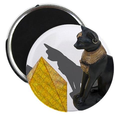 "Egyptian Cat Sun Pyramid 2.25"" Magnet (100 pack)"