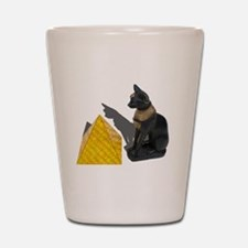 Egyptian Cat Sun Pyramid Shot Glass