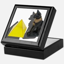 Egyptian Cat Pyramid Keepsake Box