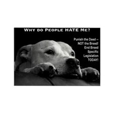 Pitbull Dogs - Ban BSL Rectangle Magnet