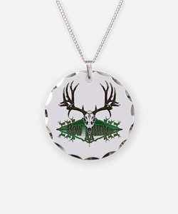 Bow hunting,deer skull Necklace